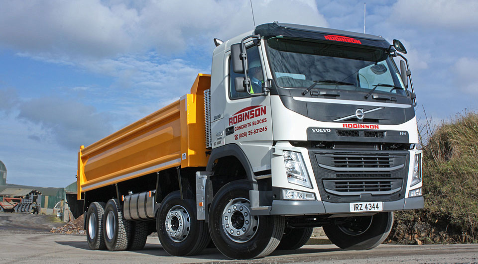 fleet of tipper trucks and specialised crane-lorries